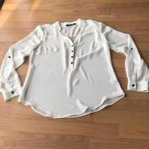 A.N.A Off White Sheer Blouse